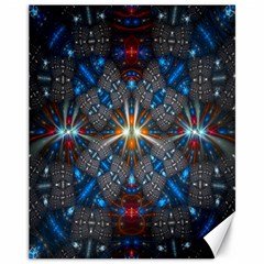 Fancy Fractal Pattern Background Accented With Pretty Colors Canvas 11  X 14