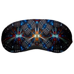 Fancy Fractal Pattern Background Accented With Pretty Colors Sleeping Masks