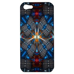 Fancy Fractal Pattern Background Accented With Pretty Colors Apple Iphone 5 Hardshell Case