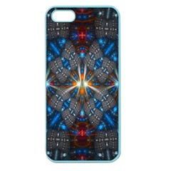 Fancy Fractal Pattern Background Accented With Pretty Colors Apple Seamless Iphone 5 Case (color)