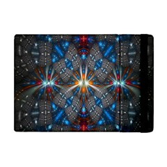 Fancy Fractal Pattern Background Accented With Pretty Colors Apple Ipad Mini Flip Case