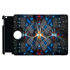 Fancy Fractal Pattern Background Accented With Pretty Colors Apple Ipad 3/4 Flip 360 Case