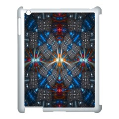 Fancy Fractal Pattern Background Accented With Pretty Colors Apple Ipad 3/4 Case (white)