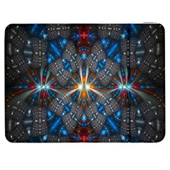Fancy Fractal Pattern Background Accented With Pretty Colors Samsung Galaxy Tab 7  P1000 Flip Case