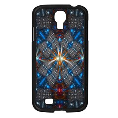 Fancy Fractal Pattern Background Accented With Pretty Colors Samsung Galaxy S4 I9500/ I9505 Case (black)