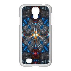 Fancy Fractal Pattern Background Accented With Pretty Colors Samsung Galaxy S4 I9500/ I9505 Case (white)