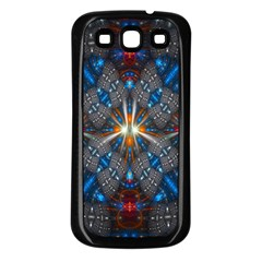 Fancy Fractal Pattern Background Accented With Pretty Colors Samsung Galaxy S3 Back Case (black)