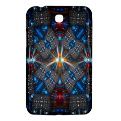 Fancy Fractal Pattern Background Accented With Pretty Colors Samsung Galaxy Tab 3 (7 ) P3200 Hardshell Case