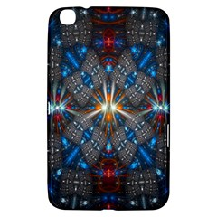 Fancy Fractal Pattern Background Accented With Pretty Colors Samsung Galaxy Tab 3 (8 ) T3100 Hardshell Case