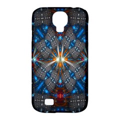 Fancy Fractal Pattern Background Accented With Pretty Colors Samsung Galaxy S4 Classic Hardshell Case (pc+silicone)