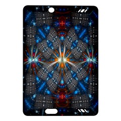 Fancy Fractal Pattern Background Accented With Pretty Colors Amazon Kindle Fire Hd (2013) Hardshell Case