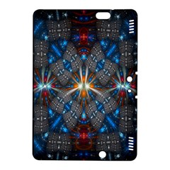 Fancy Fractal Pattern Background Accented With Pretty Colors Kindle Fire Hdx 8 9  Hardshell Case
