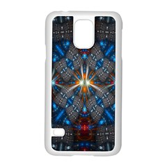 Fancy Fractal Pattern Background Accented With Pretty Colors Samsung Galaxy S5 Case (white)