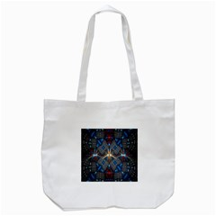 Fancy Fractal Pattern Background Accented With Pretty Colors Tote Bag (white)