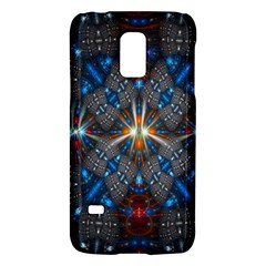 Fancy Fractal Pattern Background Accented With Pretty Colors Galaxy S5 Mini