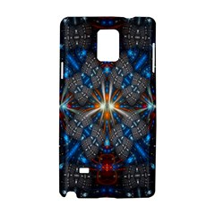 Fancy Fractal Pattern Background Accented With Pretty Colors Samsung Galaxy Note 4 Hardshell Case