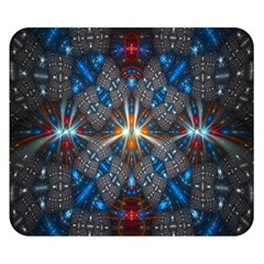 Fancy Fractal Pattern Background Accented With Pretty Colors Double Sided Flano Blanket (small)