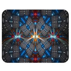 Fancy Fractal Pattern Background Accented With Pretty Colors Double Sided Flano Blanket (medium)