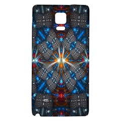 Fancy Fractal Pattern Background Accented With Pretty Colors Galaxy Note 4 Back Case