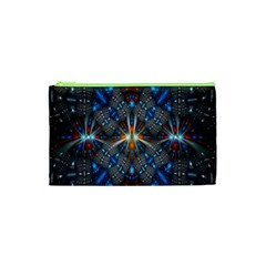 Fancy Fractal Pattern Background Accented With Pretty Colors Cosmetic Bag (xs)