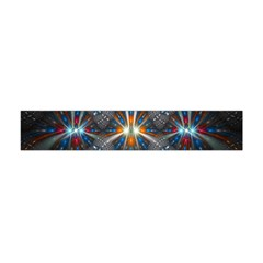 Fancy Fractal Pattern Background Accented With Pretty Colors Flano Scarf (mini)