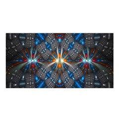 Fancy Fractal Pattern Background Accented With Pretty Colors Satin Shawl