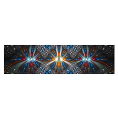Fancy Fractal Pattern Background Accented With Pretty Colors Satin Scarf (oblong)