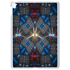 Fancy Fractal Pattern Background Accented With Pretty Colors Apple Ipad Pro 9 7   White Seamless Case