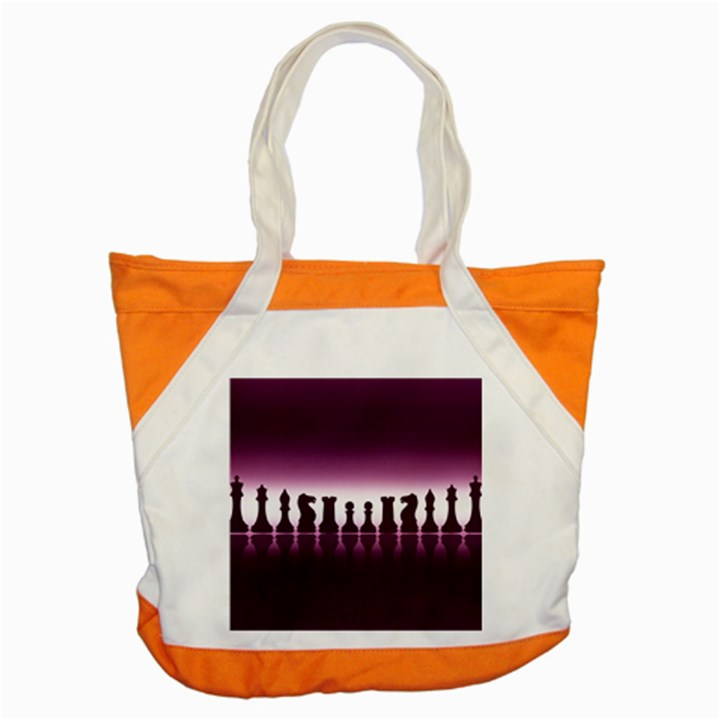 Chess Pieces Accent Tote Bag