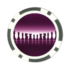 Chess Pieces Poker Chip Card Guard (10 Pack)