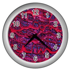 Plastic Mattress Background Wall Clocks (silver)