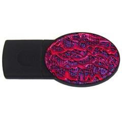 Plastic Mattress Background Usb Flash Drive Oval (4 Gb)