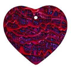 Plastic Mattress Background Heart Ornament (two Sides)
