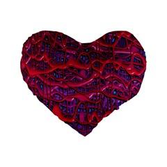 Plastic Mattress Background Standard 16  Premium Heart Shape Cushions