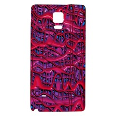 Plastic Mattress Background Galaxy Note 4 Back Case