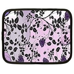 Floral Pattern Background Netbook Case (large)