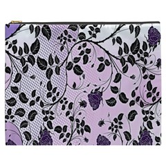 Floral Pattern Background Cosmetic Bag (xxxl)