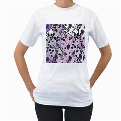Floral Pattern Background Women s T Shirt (white)