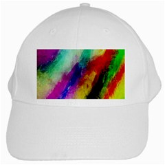 Colorful Abstract Paint Splats Background White Cap