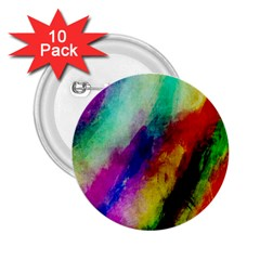 Colorful Abstract Paint Splats Background 2 25  Buttons (10 Pack)