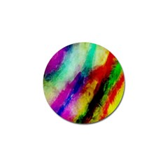Colorful Abstract Paint Splats Background Golf Ball Marker (4 Pack)