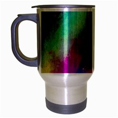 Colorful Abstract Paint Splats Background Travel Mug (silver Gray)
