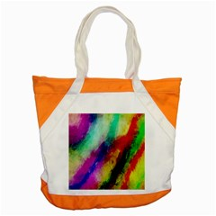 Colorful Abstract Paint Splats Background Accent Tote Bag