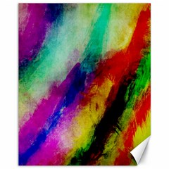 Colorful Abstract Paint Splats Background Canvas 11  X 14