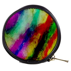 Colorful Abstract Paint Splats Background Mini Makeup Bags