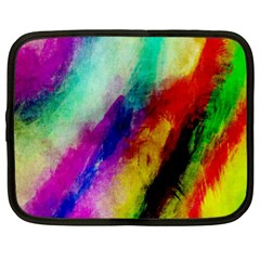 Colorful Abstract Paint Splats Background Netbook Case (xl)