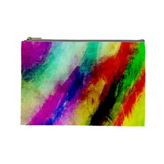 Colorful Abstract Paint Splats Background Cosmetic Bag (large)