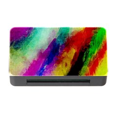 Colorful Abstract Paint Splats Background Memory Card Reader With Cf