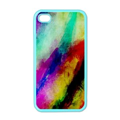 Colorful Abstract Paint Splats Background Apple Iphone 4 Case (color)