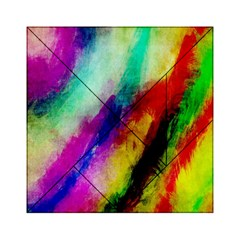 Colorful Abstract Paint Splats Background Acrylic Tangram Puzzle (6  X 6 )
